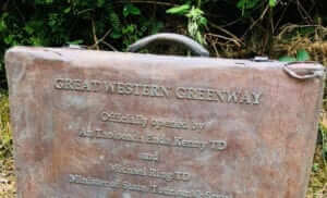 Great Western Greenway plaque opening